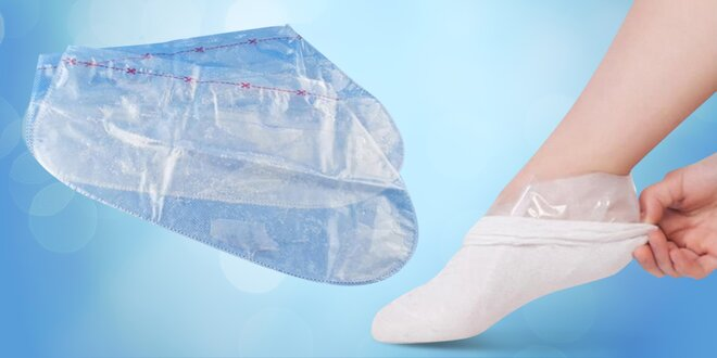 Pro hladká chodidla: 2 páry exfoliačních ponožek