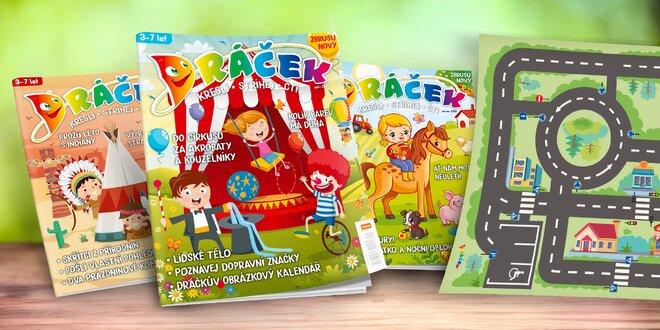 Předplatné dětského časopisu Dráček s plakátem