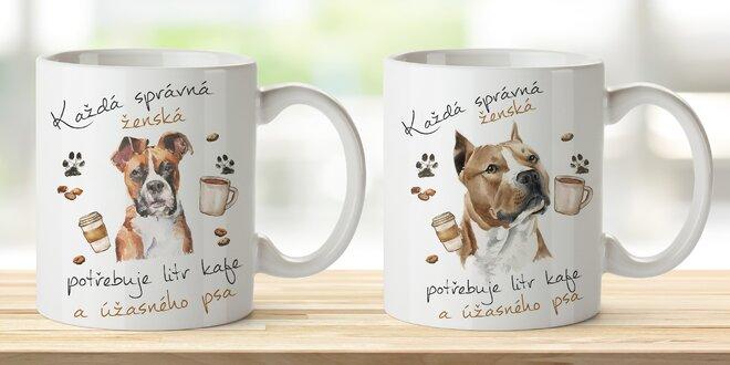 Hrnky pro dámy s motivy 18 plemen psů