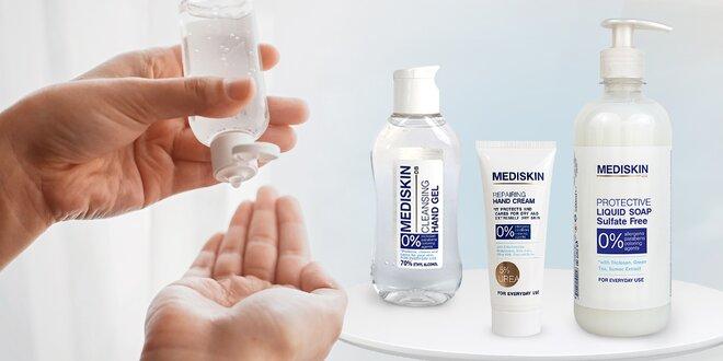 Antibakteriální gel, vyživující krém i mýdlo na ruce