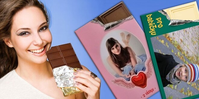 Čtvrtkilová čokoláda s vaší vlastní fotografií