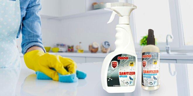 Sanitizér s nanostříbrem: 100 a 600ml balení