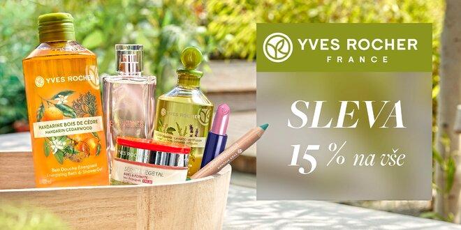 15% sleva do e-shopu s kosmetikou Yves Rocher