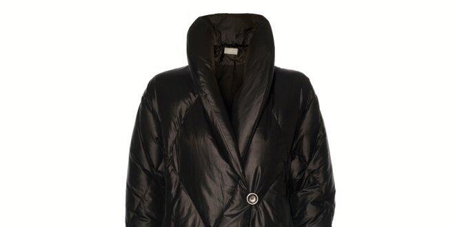 Dámský černý péřový kabát Pietro Filipi  6a528ea0b6