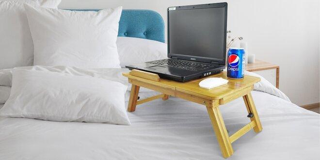 Dřevěný polohovatelný stolek pod notebook