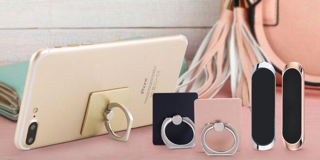 Praktické držáčky na mobil s prstýnkem i magnetem