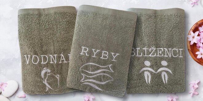Bavlněné ručníky s výšivkou znamení zvěrokruhu