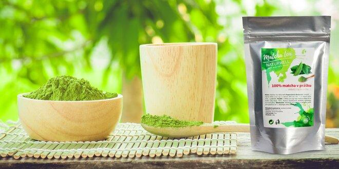 Zelený čaj v prášku Matcha tea od Naturwell
