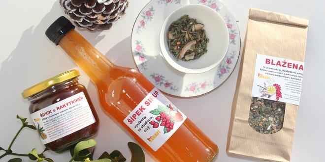 Balíčky plné zdraví: pečené a sypané čaje, džem i sirup