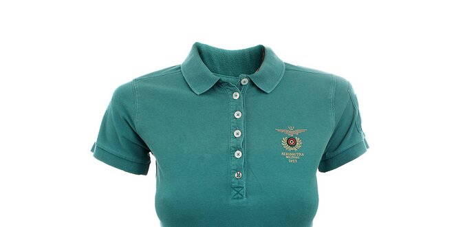 Dámské smaragdové polo tričko Aeronautica Militare