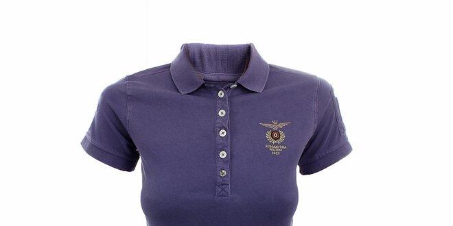 Dámské fialkové polo tričko Aeronautica Militare