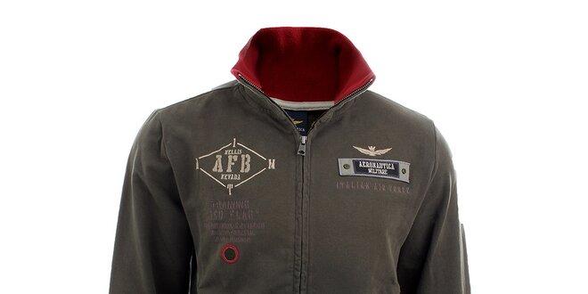 Pánská khaki mikina Aeronautica Militare