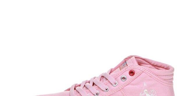 Dámské růžové kotníkové tenisky U.S. Polo  c1301a5a3b