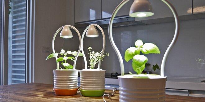Květináč ONE s osvětlením pro rychlý růst bylinek
