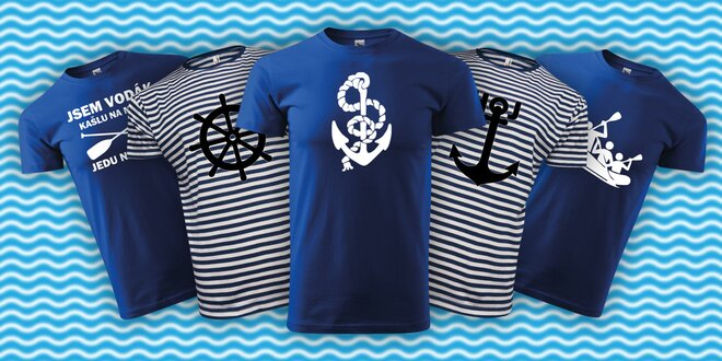 Parádní bavlněná vodácká trička ve 12 motivech