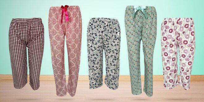 Dámské pohodlné bavlněné pyžamové kalhoty
