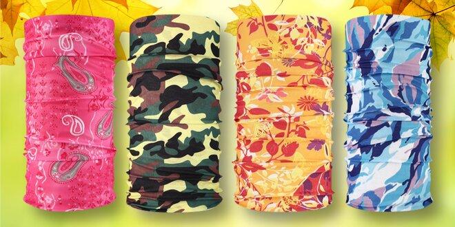 Multifunkční šátky v 15 barevných vzorech