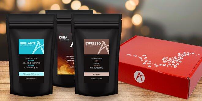 Dárkové degustační sady káv Alesio: zrnkové i mleté
