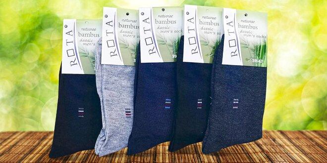 10 párů pánských vysokých bambusových ponožek