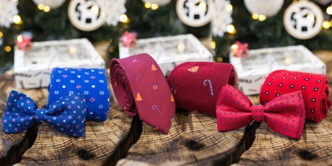 Zimní set: bláznivé ponožky a motýlek či kravata