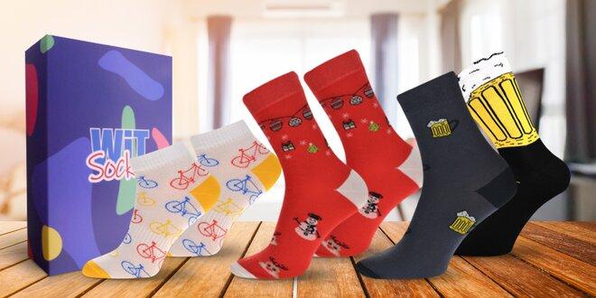 Dárkové sety veselých ponožek pro dámy i pány