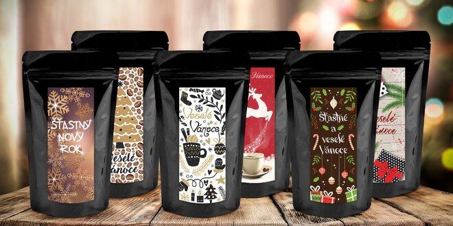 Vánoční balíček 6 ochucených zrnkových káv