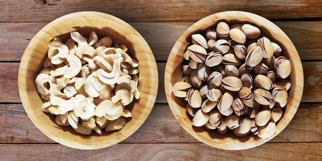 Kešu oříšky nebo vyzrálé pistácie: 100 či 1000 g