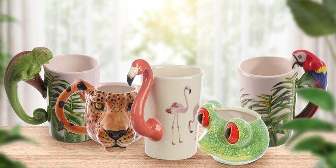 Zvířecí hrníčky: žába, tukan, lev i žirafa a další