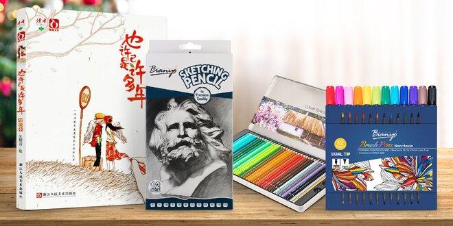 Pro chvíle tvoření: tužky, pastelky i akvarely