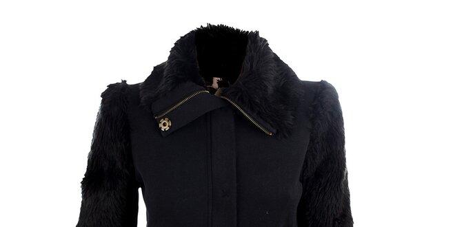 Dámský černý svetřík Phard s chlupatými rukávy