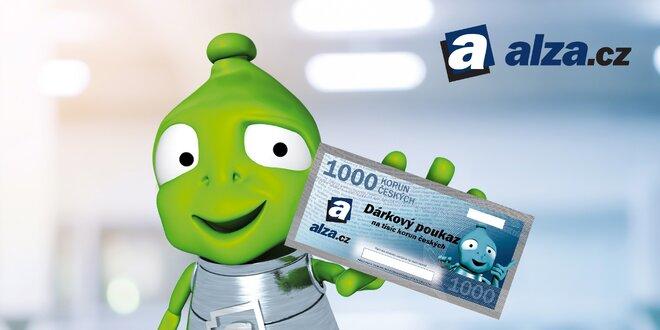 Dárkový poukaz na Alza.cz v hodnotě 1000 až 5000 Kč