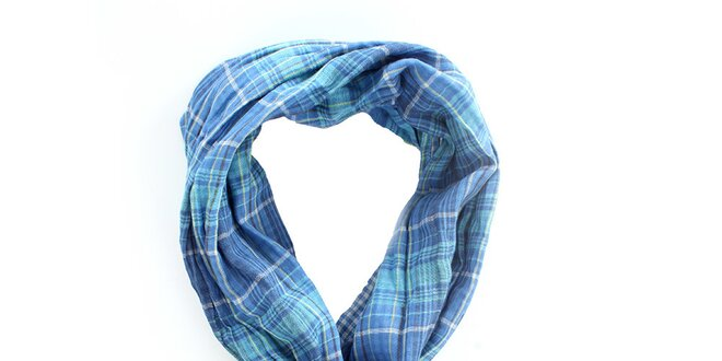Pánský kostkovaný modrý šátek Timeout