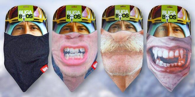 Obličejové zimní šátky Bugaboos s vtipnými motivy
