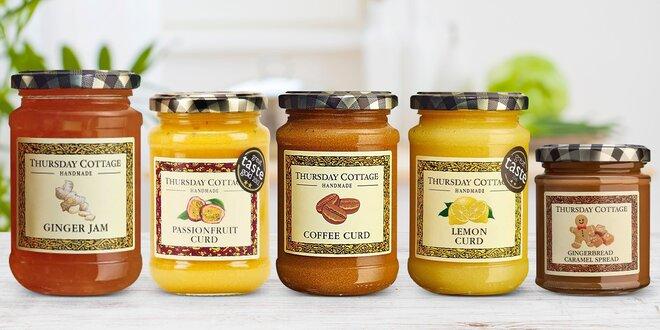 Ovocné krémy: citron, káva, zázvor, karamel