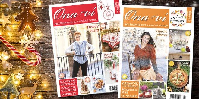 Roční předplatné časopisu Ona ví včetně el. verze