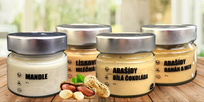 Degustační balíček ořechových krémů: čoko i banán