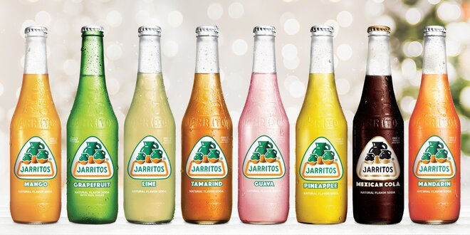 Šest mexických limonád Jarritos v 8 příchutích