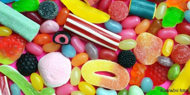 Až 1,6 kg želé bonbónů, pendreků či jiných cukrátek