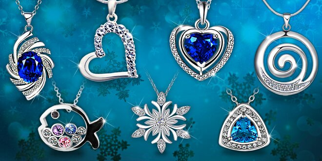 Náhrdelníky a náušnice s krystaly Swarovski a zirkony