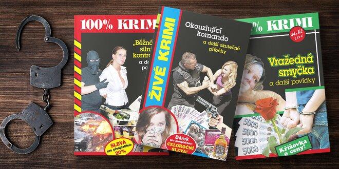 6, 12 i 24 čísel časopisů plných krimi povídek