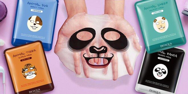 Pleťové masky se zvířecími obrázky