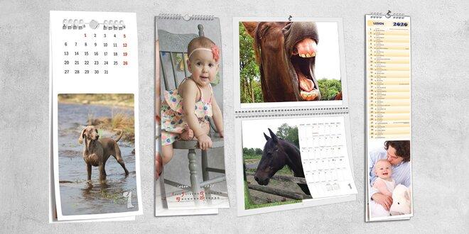Oboustranné nástěnné fotokalendáře: 7 formátů