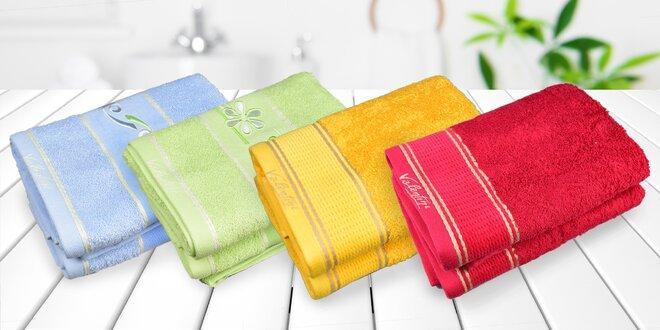 Vyšívané froté ručníky a osušky ze 100% bavlny