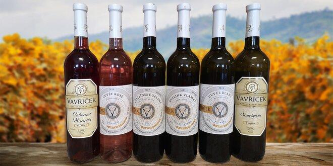 Vína z rodinného vinařství Vavříček