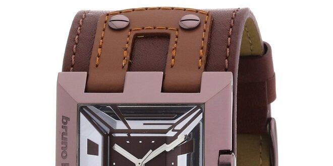 Dámské hnědé náramkové hodinky Bruno Banani