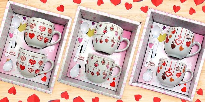 Srdeční záležitost: valentýnská sada hrnečků pro dva
