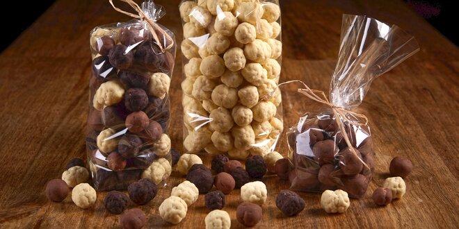 Pohankové křupky, oříšky i popcorn v čokoládě
