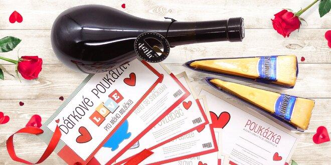 Balíčky plné lásky: poukazy na hýčkání, sýry a víno