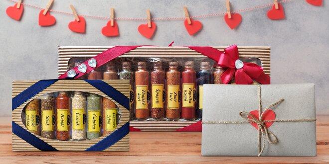 Valentýnské sady koření s mašlí i v dárkovém balení
