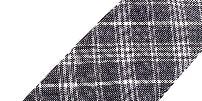Pánská šedo-bílá kostkovaná hedvábná kravata Pietro Filipi  2936c5956c